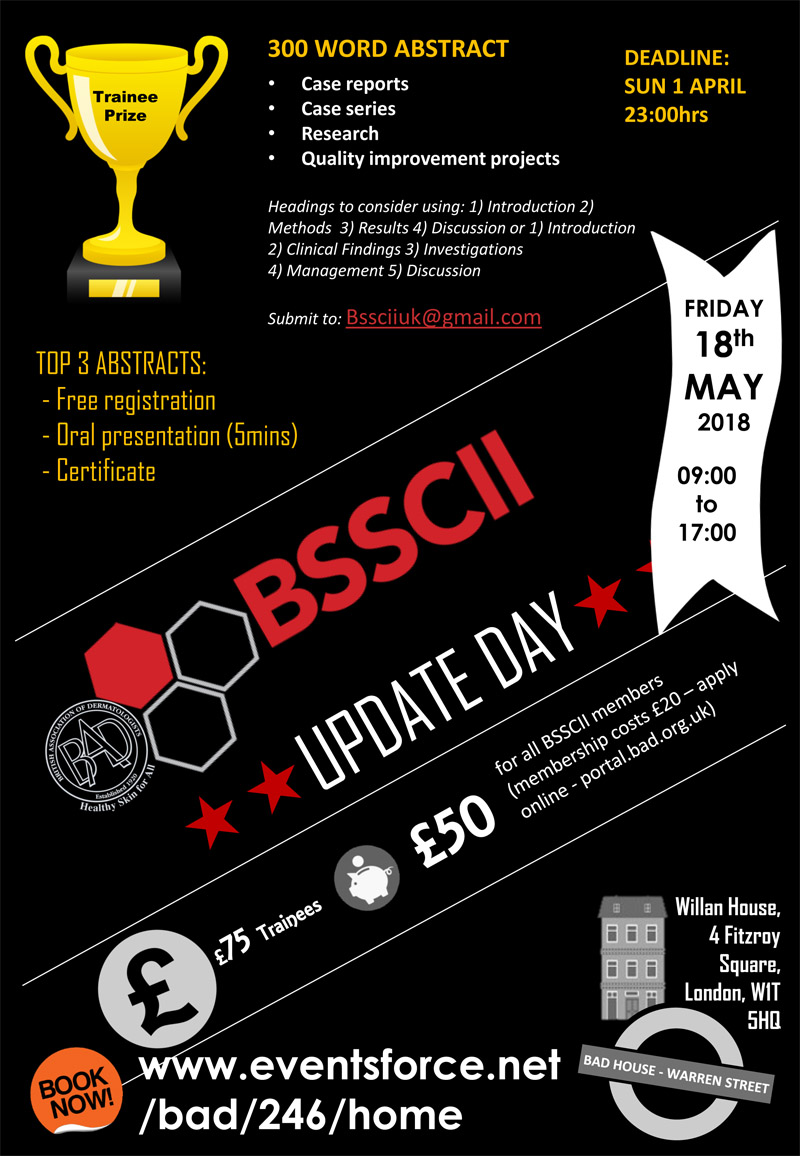 Submit an Abstract – BSSCII Update Day